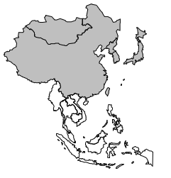 Aire culturelle orientale: Limites de l'Asie de l'Est.