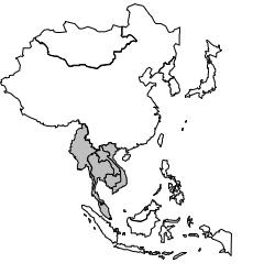 Aire culturelle orientale: Limites de l'Indochine.