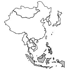 Aire culturelle orientale: Limites de l'Insulinde.